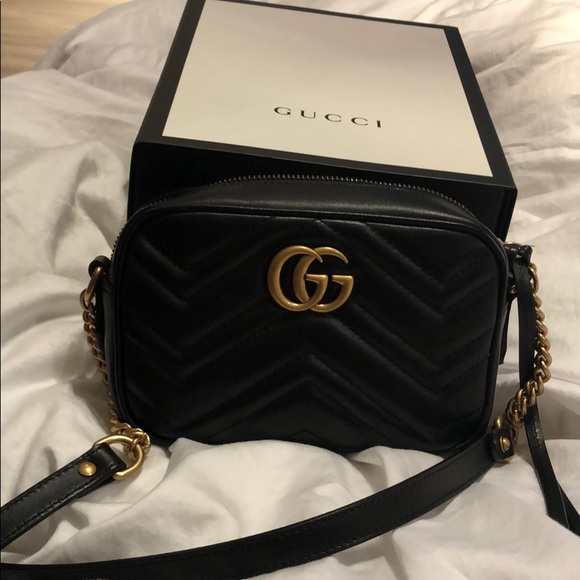 53533eedd5b Gucci Handbags - Gucci Marmont camera mini quilted leather bag
